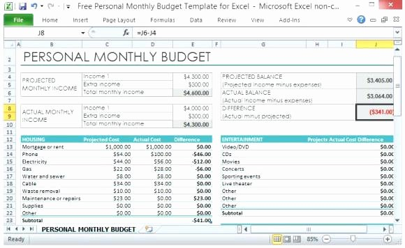 Budget Excel Template Mac Inspirational Free Personal Bud Template for Mac Free Personal Bud
