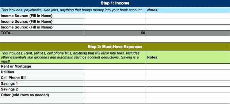 Budget Excel Template Mac Inspirational Personal Bud Template Monthly Personal Bud Weekly