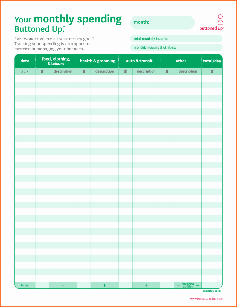 Budget Template for Business New Monthly Bill Spreadsheet Template Free