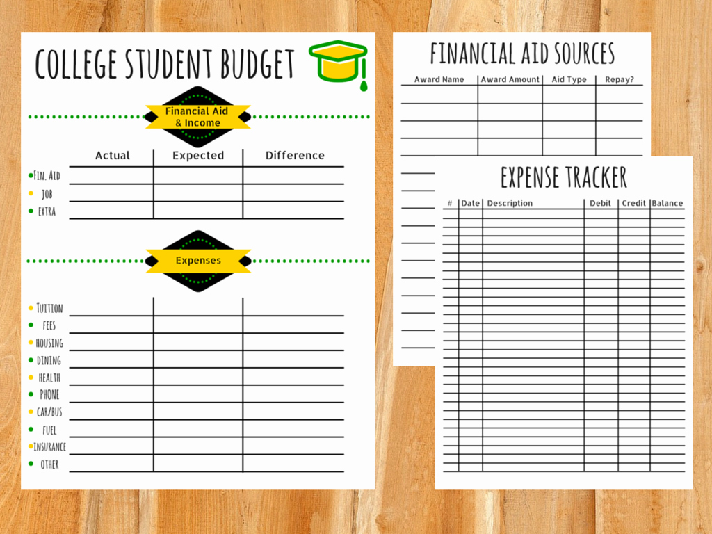 Budget Template for College Students Luxury Bud Template for College Students
