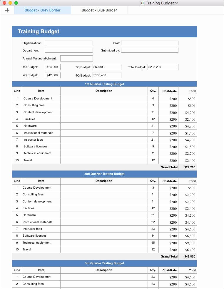 Budget Template for Numbers Mac Elegant Training Plan Template Apple Iwork Pages and Numbers