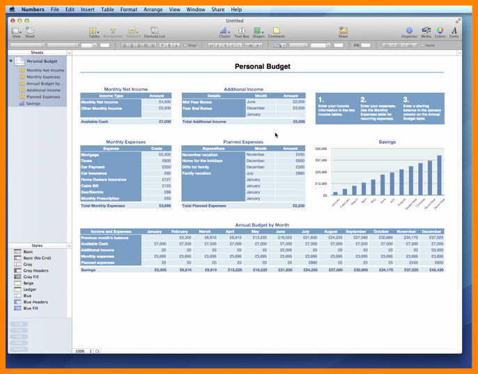 Budget Template for Numbers Mac New 9 Excel Bud Template Mac