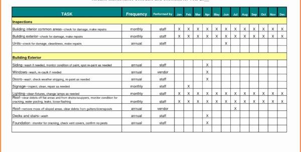 Building Maintenance Schedule Excel Template Beautiful Building Maintenance Costs Spreadsheet Google Spreadshee