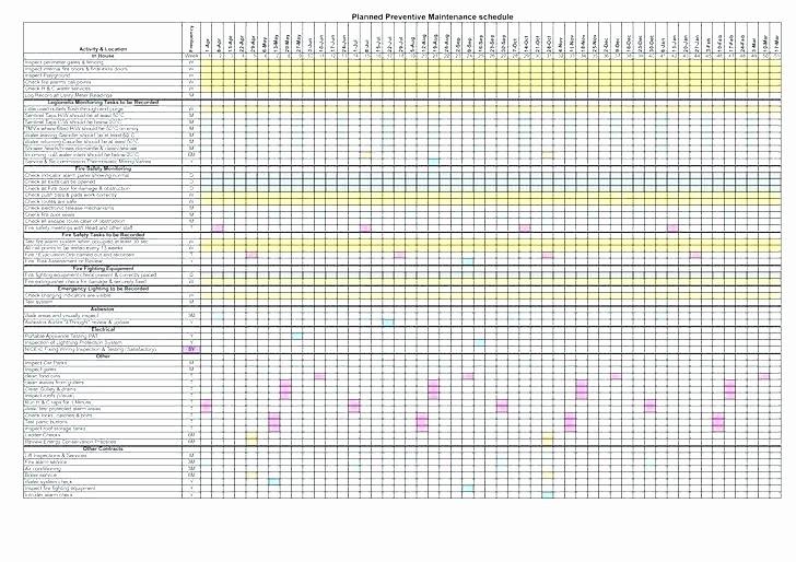 Building Maintenance Schedule Excel Template Best Of Building Maintenance Plan Template A Fresh Sample Resume
