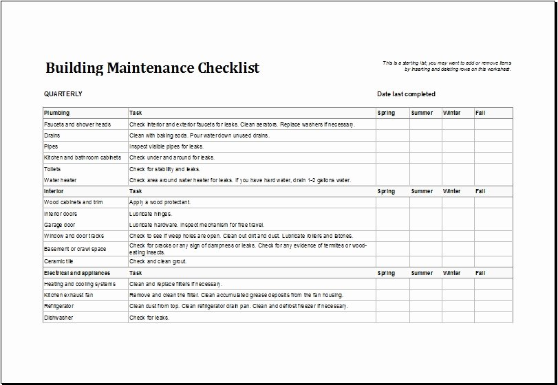 Building Maintenance Schedule Template Lovely Building Maintenance Schedule Template Invitation Template