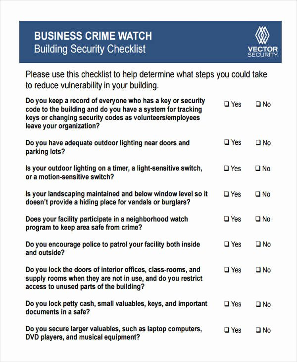 Building Security Risk assessment Template Beautiful Security assessment Building Security assessment Checklist