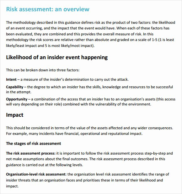 Building Security Risk assessment Template Beautiful Security Risk assessment – 7 Free Samples Examples format