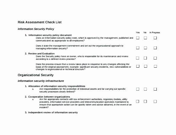 Building Security Risk assessment Template Elegant Home Building Checklist Template Security Risk assessment