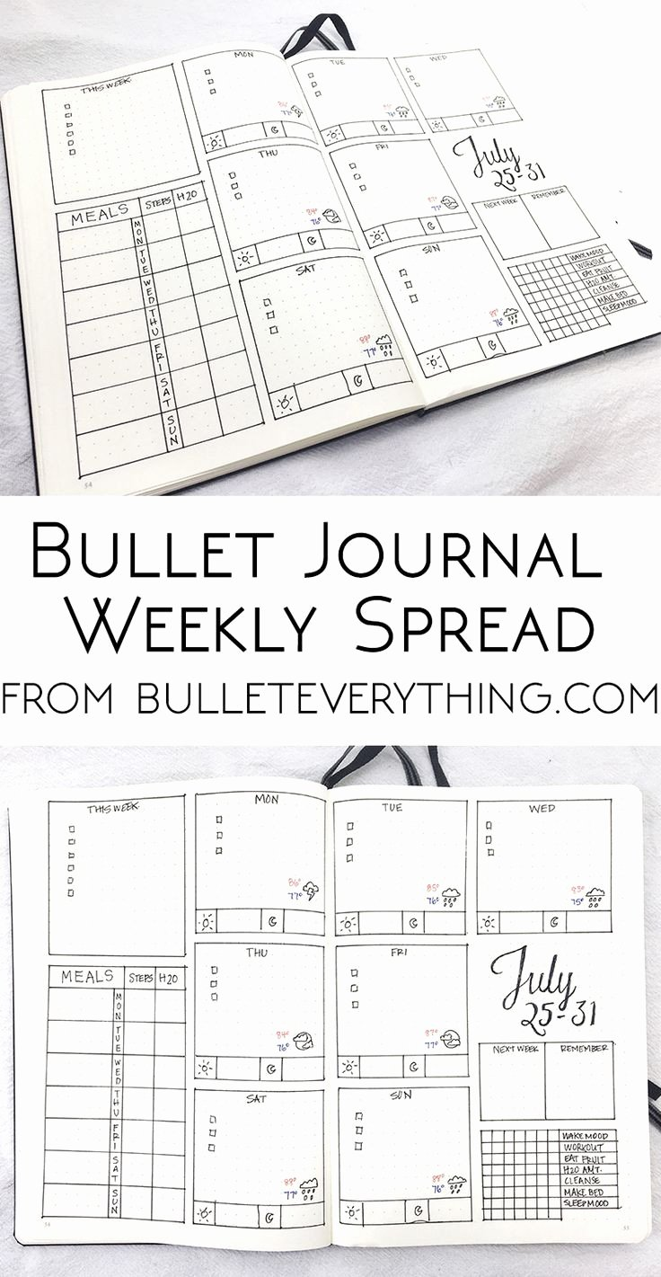 Bullet Journal Excel Template Awesome Bullet Journal Excel Template – thedl