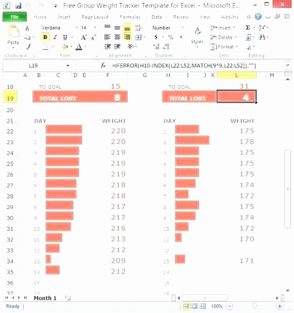 Bullet Journal Excel Template Awesome Bullet Journal Weight Loss Tracker Printable Excel