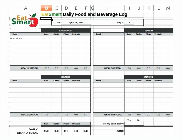 Bullet Journal Excel Template Fresh My Printable Journal Template Food Log Spreadsheet In