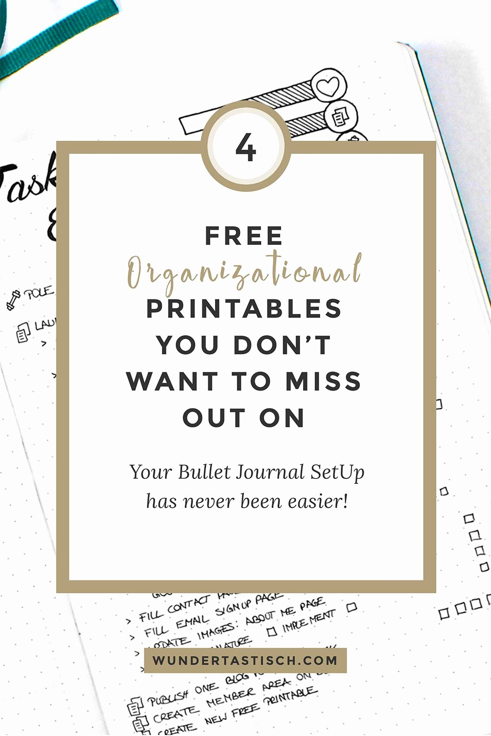 Bullet Journal Excel Template Inspirational Free organizational Printables You Don T Want to Miss Out