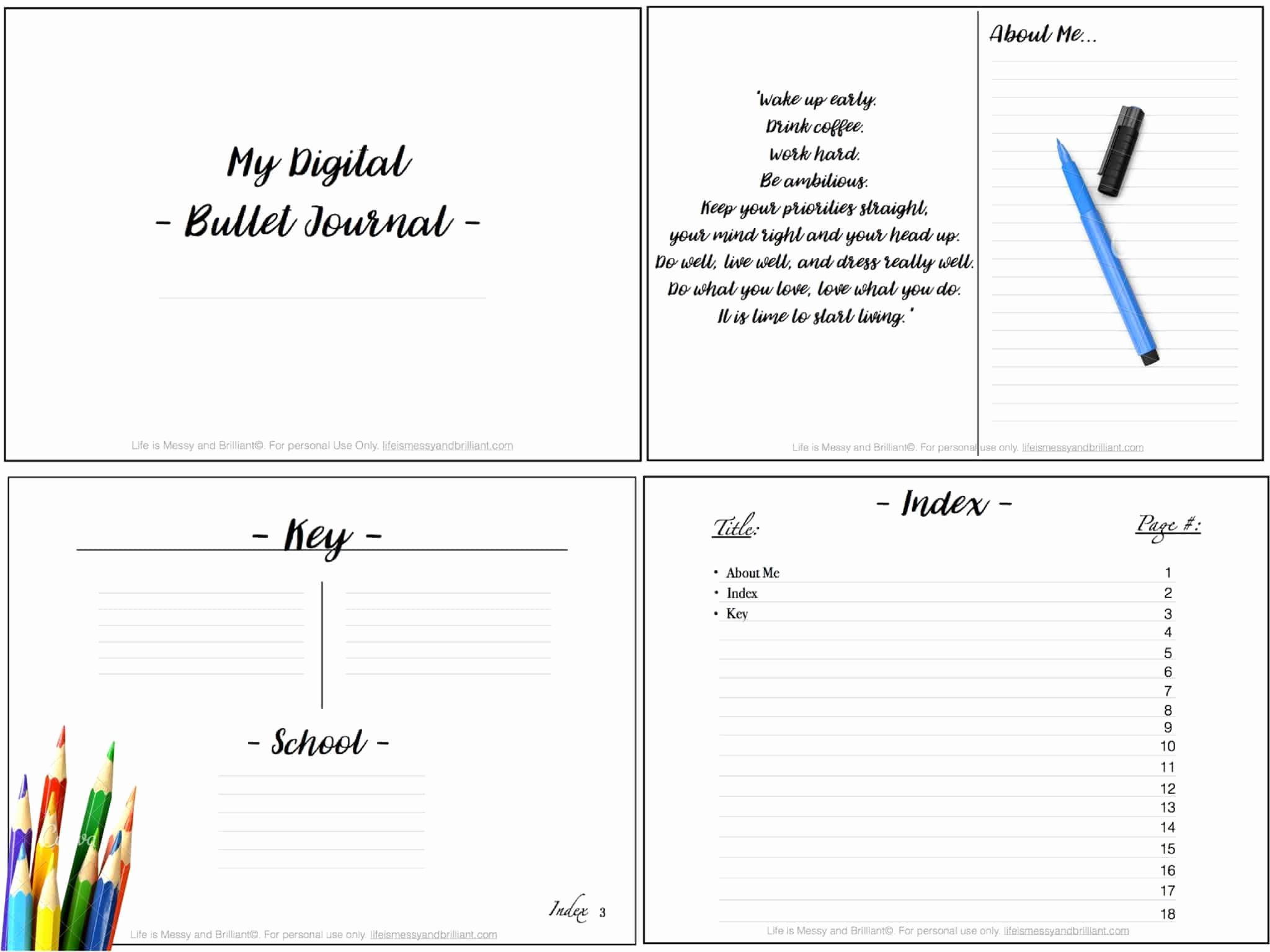 Bullet Journal Excel Template Lovely Download Enote Templates