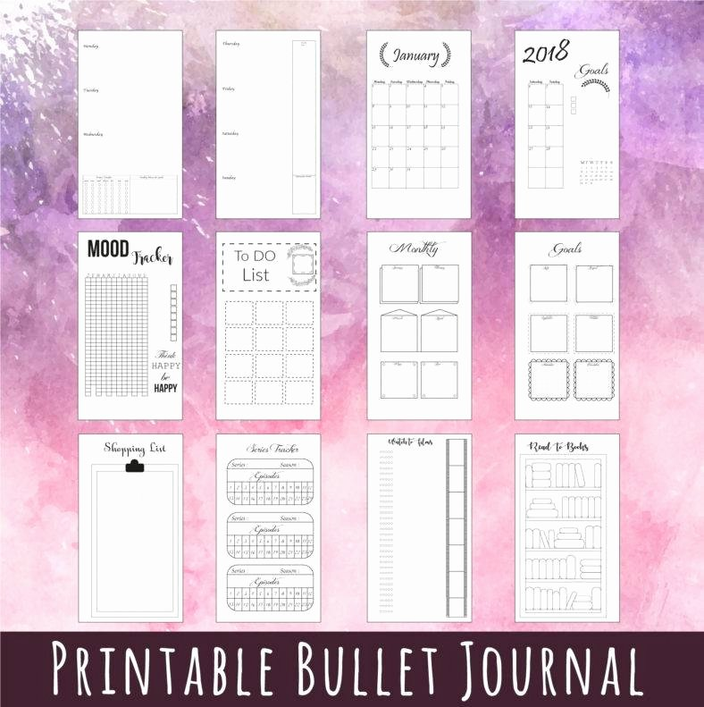 Bullet Journal Excel Template New 5 Bullet Journal Templates Pdf