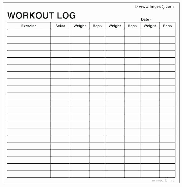 Bullet Journal Excel Template New Fitness Journal Template Workout Logs Excel Printable