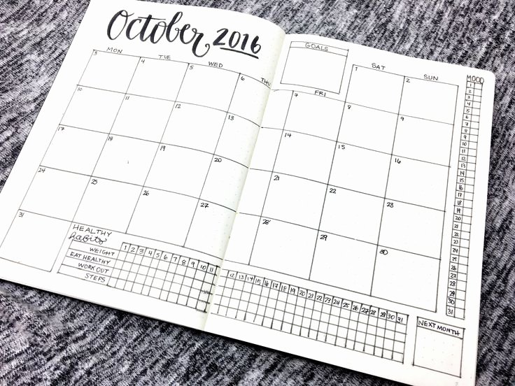 Bullet Journal Excel Template Unique Best 25 Monthly Schedule Template Ideas On Pinterest
