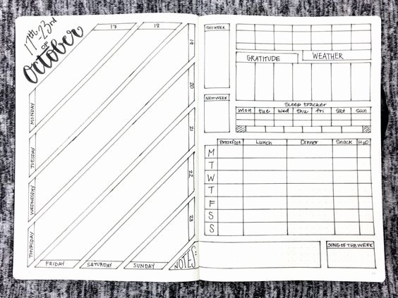 Bullet Journal Pdf Template Awesome Weekly Layout October 17 23 2016