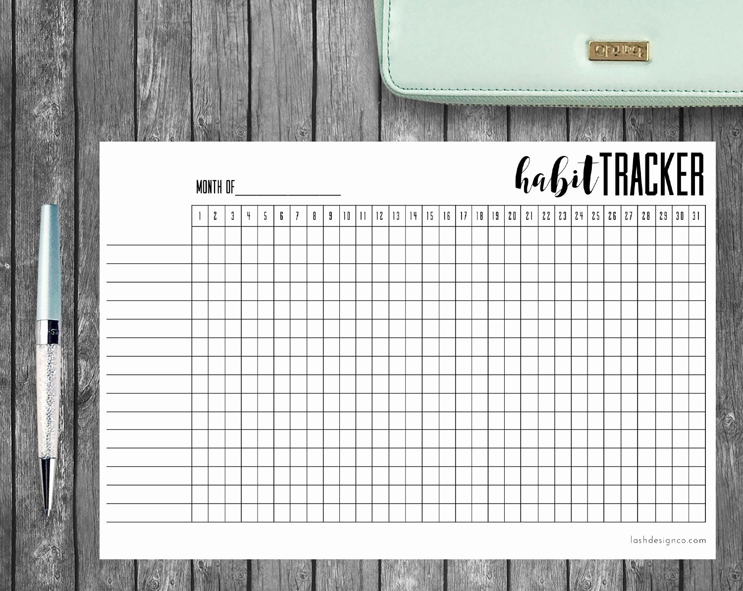 Bullet Journal Pdf Template Best Of Printable Habit Tracker A5 Bullet Journal or Planners