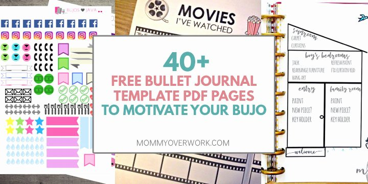 Bullet Journal Pdf Template Best Of top 40 Free Bullet Journal Printables for Bujo Junkies