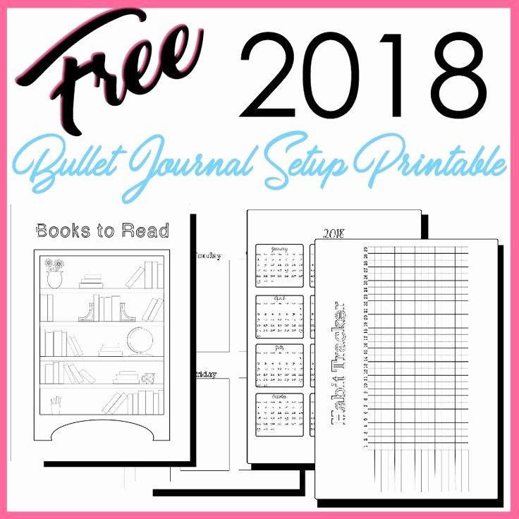 Bullet Journal Pdf Template Fresh 2018 Bullet Journal Setup Free Printable
