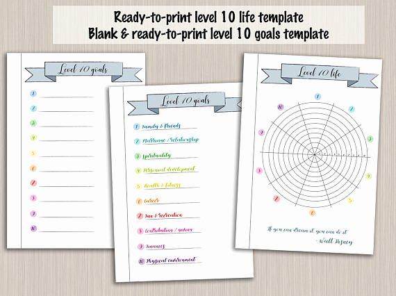 Bullet Journal Pdf Template Fresh Bullet Journal Printable Level 10 Life Planner Template