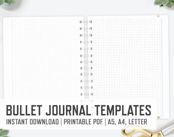 Bullet Journal Pdf Template Fresh Bullet Journal Templates Lined Dots Instant Download