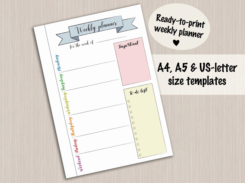 Bullet Journal Pdf Template Luxury Bullet Journal Printable Weekly Planner Template for Bullet
