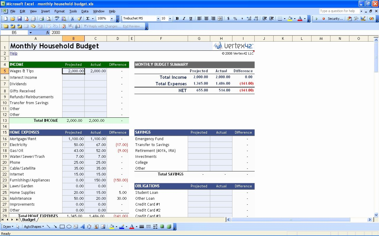 Business Budget Template Excel Fresh Business Personal Bud Excel Templates New