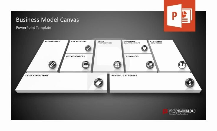 Business Canvas Template Ppt Awesome Business Model Canvas Powerpoint Template