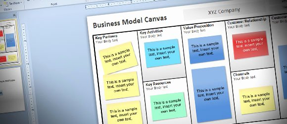 Business Canvas Template Ppt Awesome Free Business Model Canvas Template for Powerpoint 2010