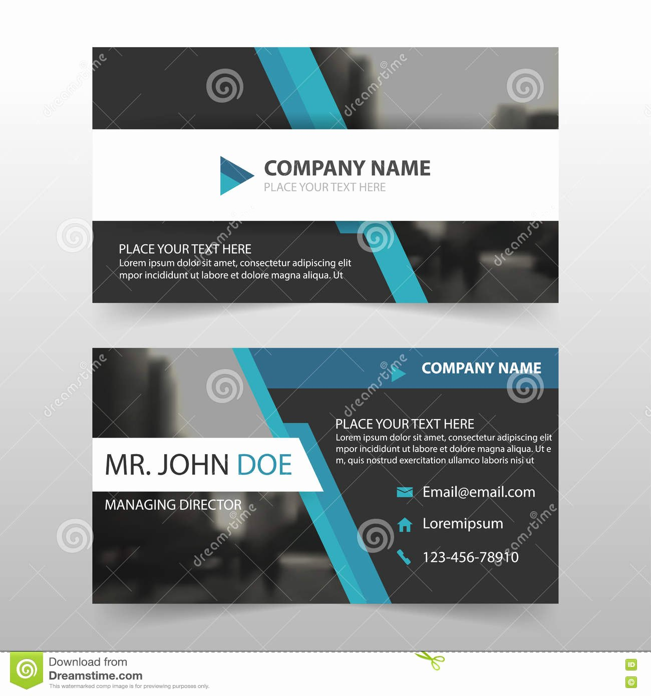 Business Card Layout Template Beautiful Blue Black Corporate Business Card Name Card Template