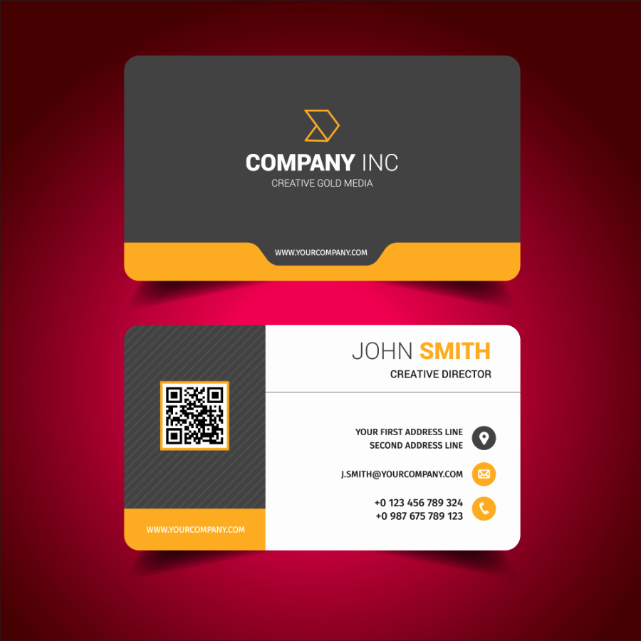 Business Card Layout Template Beautiful Download Modern Business Card Design Template Free