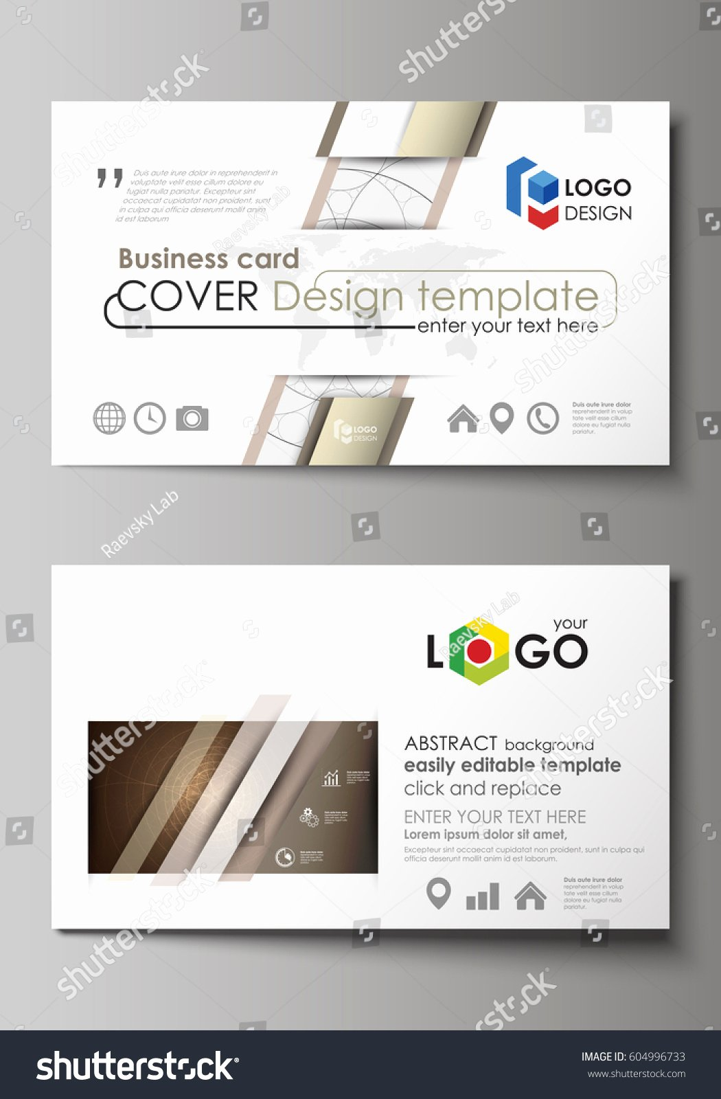 Business Card Layout Template Best Of Business Card Templates Easy Editable Layout Stock Vector