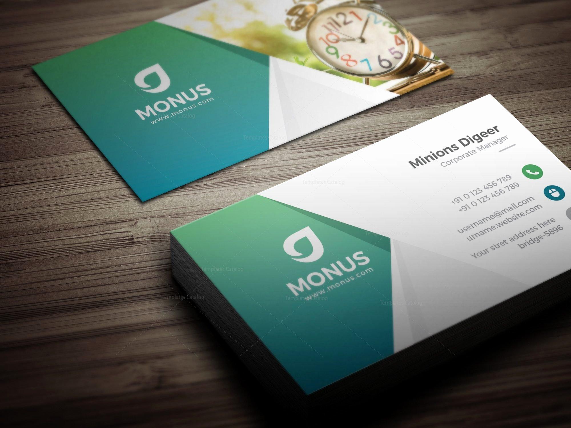 Business Card Layout Template Best Of Clock Modern Business Card Design Template
