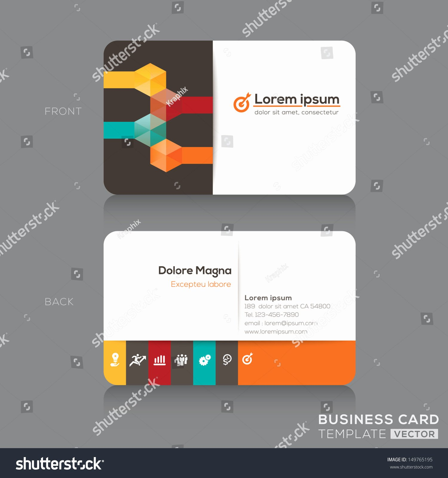 Business Card Layout Template Best Of Trendy isometric Business Cards Design Vector Stock Vector