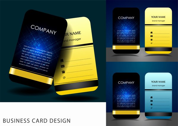 Business Card Layout Template Elegant Business Card Calendar Template 2017 Free Vector