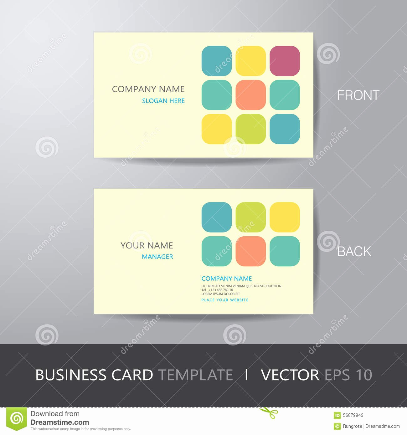 Business Card Layout Template Elegant Business Card Square Abstract Background Design Layout
