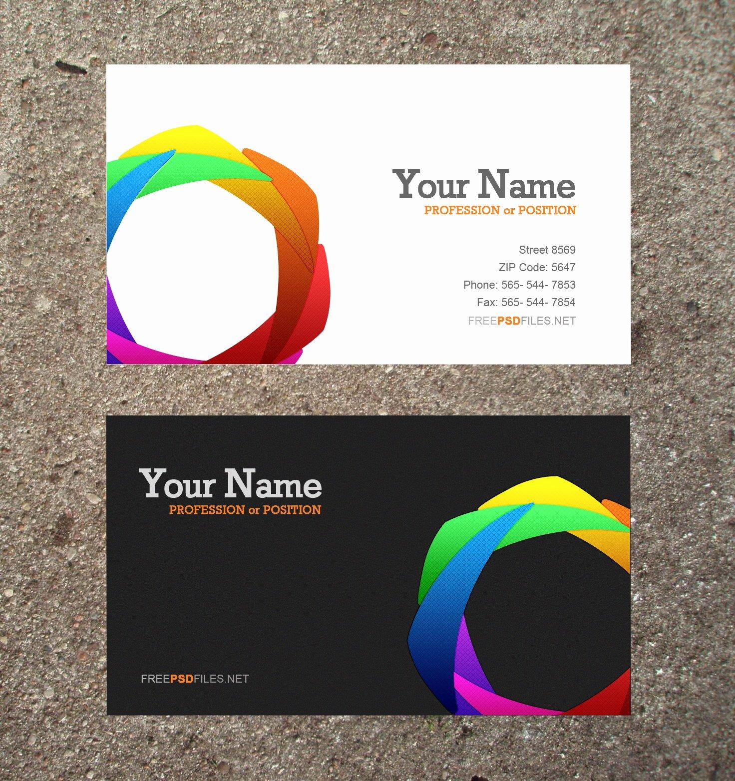 Business Card Layout Template Fresh 10 Modern Business Card Psd Template Free Free