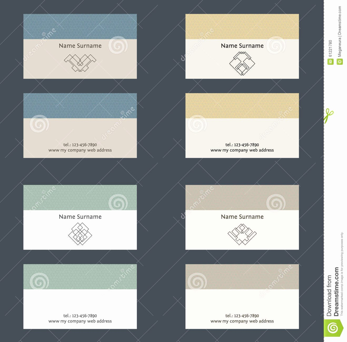 Business Card Layout Template Fresh Set Business Card Layout Linear Geometric Logo and