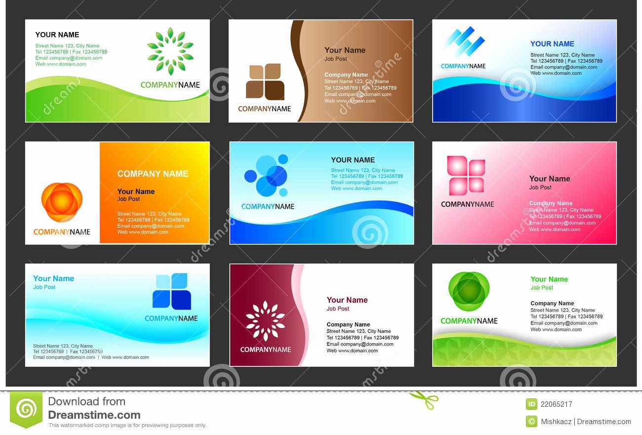 Business Card Layout Template Inspirational Business Card Template Design Stock Vector Illustration