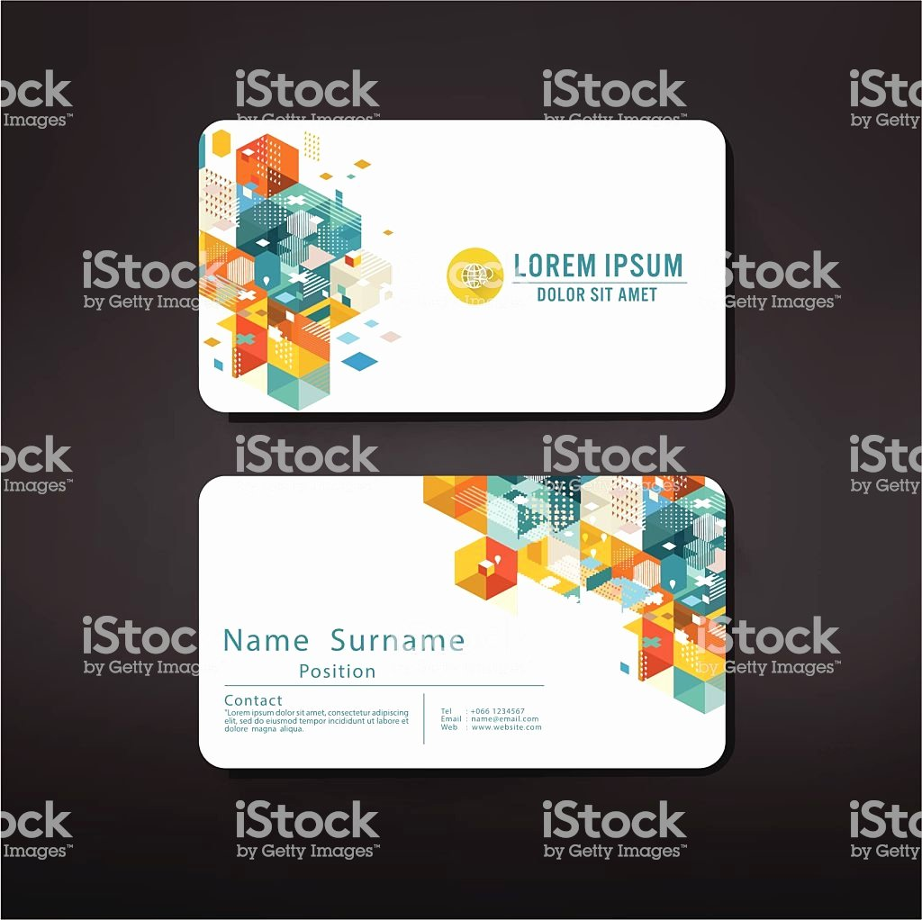 Business Card Layout Template Inspirational Modern Geometric Business Cards Design Template Layout