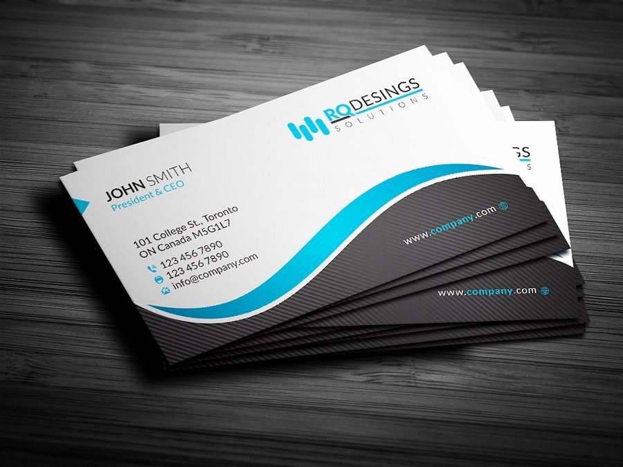 Business Card Layout Template Lovely Corporate Business Card 12 Business Card Templates