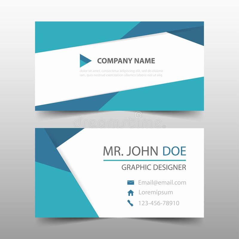 Business Card Layout Template Luxury Blue Triangle Corporate Business Card Name Card Template