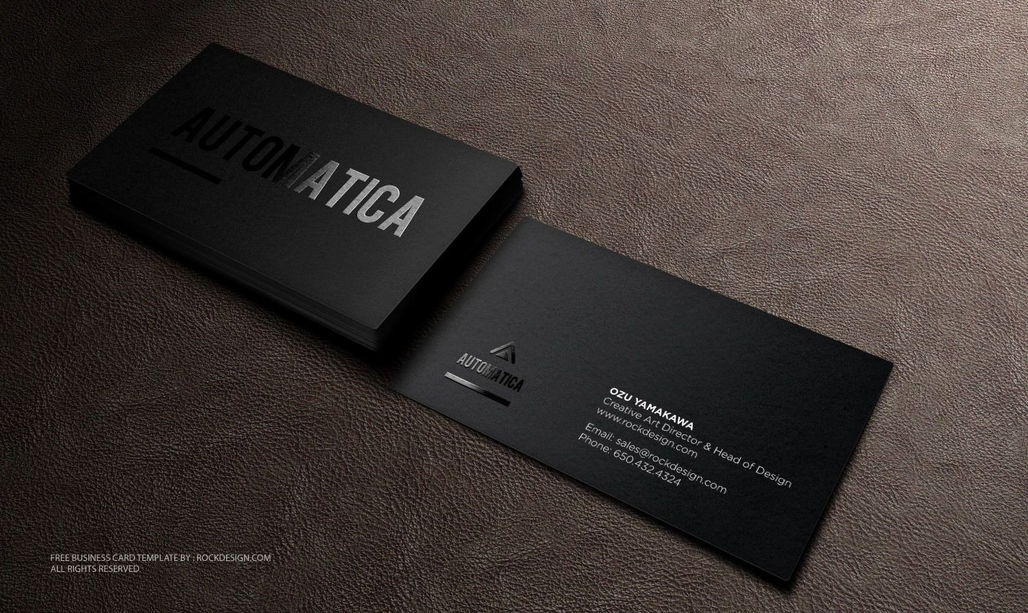 Business Card Layout Template New Black Business Card Template