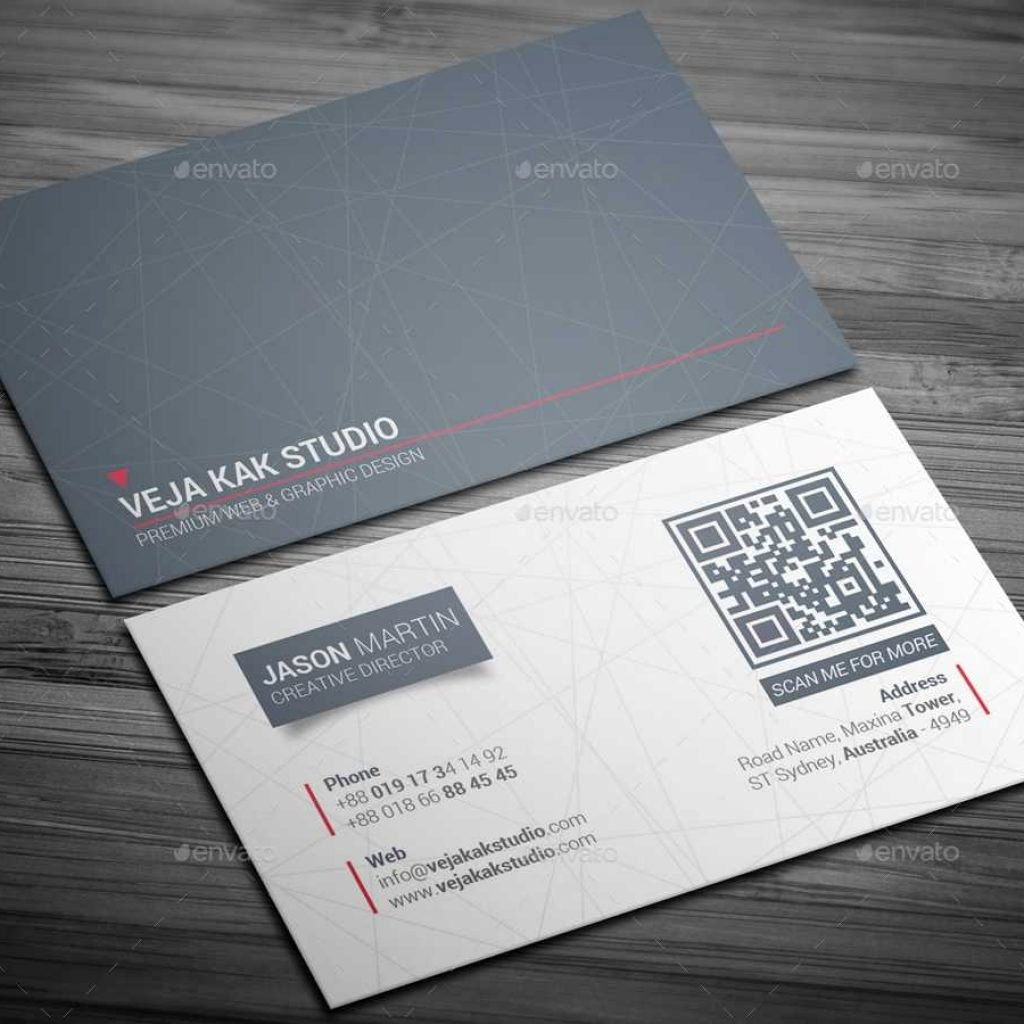 Business Card Sheet Template Beautiful Sleek Minimal Business Card by Vejakakstudio