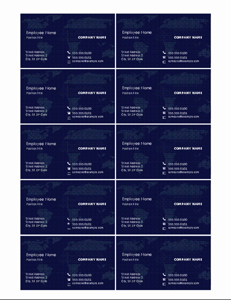Business Card Sheet Template Best Of Business Cards with Map 10 Per Page