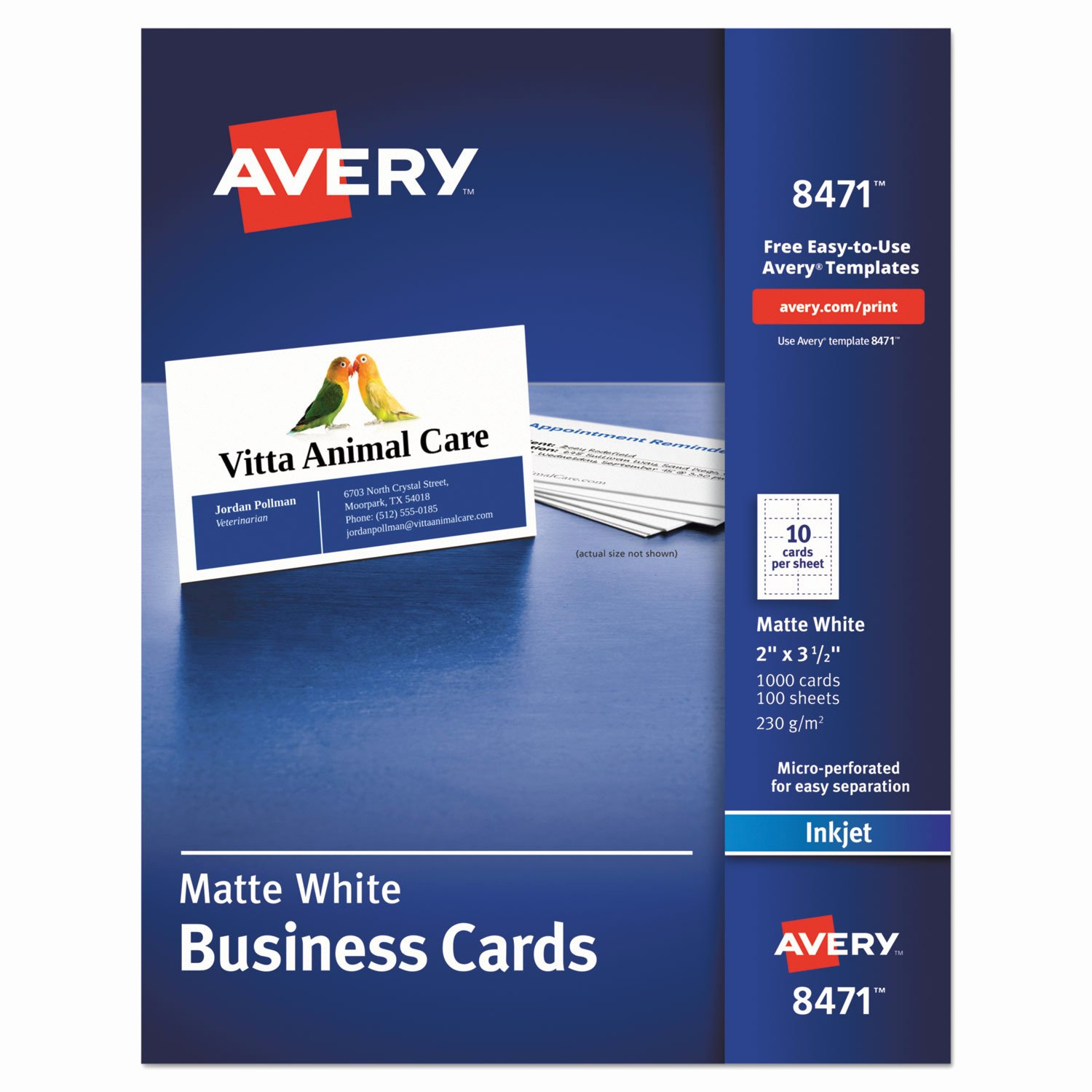 Business Card Sheet Template Best Of Printable Microperf Business Cards by Avery Ave8471