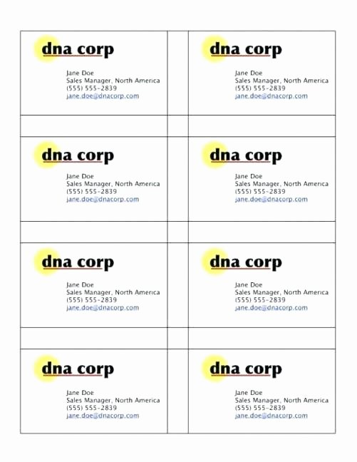 Business Card Sheet Template Elegant Business Card Template 10 Per Sheet 8 Templates Patible