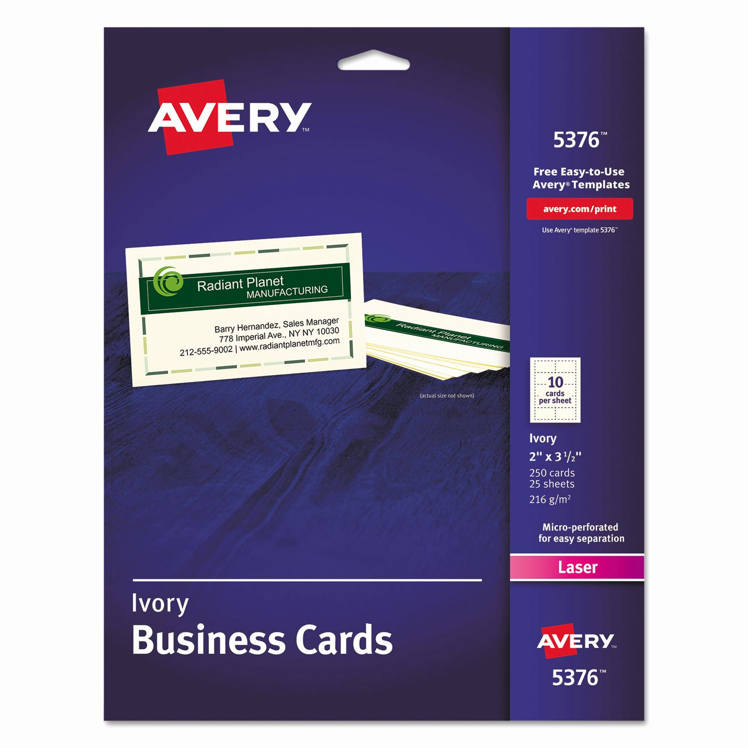 Business Card Sheet Template Fresh Printable Microperf Business Cards by Avery Ave5376