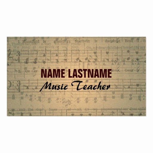 Business Card Sheet Template Lovely Vintage Music Sheet Business Card Template